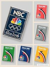 6 Pin Set- NBC Rio Logo 2016 Olympic Media Pin Pins HOT!!