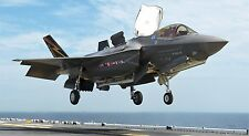"F-35 LIGHTNING II MILITARY FIGHTER JET 24"" x 43""  LARGE POSTER PRINT NAVY JET"