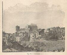 A1268 Castroreale - Veduta - Xilografia - Stampa Antica del 1895 - Engraving