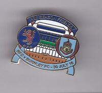 Rangers v Burnley 2016 - lapel badge