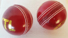 2 X Premium Quality SupremeTest 5 1/2 Oz Cricket Balls Red Hand Stitched Leather