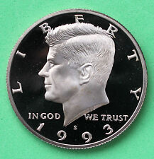 1993 S Proof Kennedy Half Dollar Coin 50 Cent JFK from Proof Set