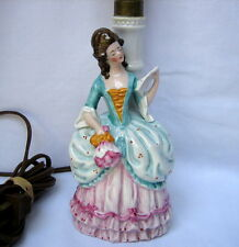 Vintage German Porcelain Figural Colonial Lady Table Lamp Marked Germany 6118