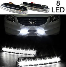 8 LED New Waterproof DC 12V Daytime Driving Running Light DRL Car Fog Lamp Set F