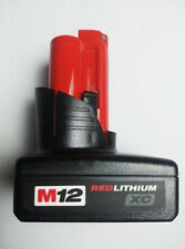 New Milwaukee M12 12V 48-11-2402 Red Li-ion XC 3Ah Tool Battery Replacement