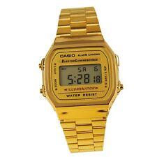 A168WG-9W CASIO VINTAGE WATCH Gold DIGITAL WATCH OLD SKOOL CLASSIC A168 A168WG