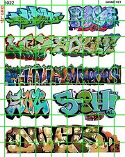 6022 DAVE'S DECALS URBAN GRAFFITI AND TAGGING DIORAMA AND TRAIN CARS BUILDINGS
