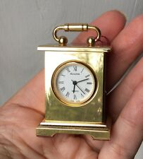 Bulova Working Musette Lantern Carriage Clock Retired B5305 Dollhouse Miniature