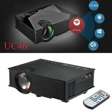UC46 Wifi HD 1080P LED HDMI Projector TV/USB/VGA Home Theater 1200 Lumens US