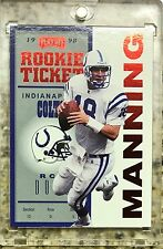 *ROOKIE TICKET RED* 1998 Playoff Contenders Peyton Manning RC Colts SP #87
