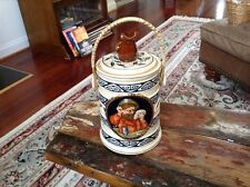 Vintage Cookie Jar Biscuit Jar Playing Cards Bridge Japan