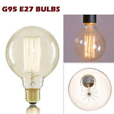 E27 60W Vintage Antique Industrial Retro Light Filament Edison Lamp Bulb - G95