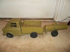 Vintage 1960's Ideal Toys Plastic US Army Troop Transport With Working Cannon
