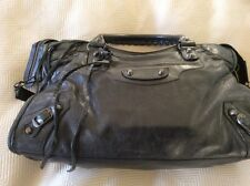 RARE 2007 BLACK BALENCIAGA RH CITY  CHÈVRE  LEATHER  HANDBAG