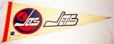 WINNIPEG JETS EARLY 1980s NHL FULL SIZE PENNANT-DALE HAWERCHUK/TOMAS STEEN