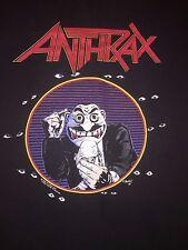 VINTAGE ANTHRAX T SHIRT,VINTAGE ROCK T SHIRTS,VINTAGE CONCERT T SHIRT,METAL