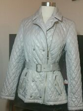 $130NWT Vince Camuto Coat Jacket Sz M Quilted Zipper Belted Beige Clay