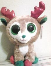 "Ty Beanie Boo 2013 Alpine the Reindeer 6"" RARE & RETIRED - New with Mint Tags"