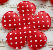 "100! XXL Padded Polka Dot Flowers - Red Flower - 65mm/2.5"" - Slightest Seconds"