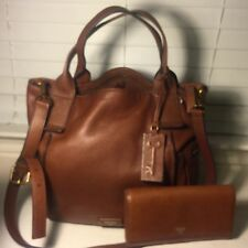 Fossil Large Emerson Hobo Bag, Leather, Brown And A Matching Wallet.