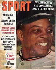 1963 (Aug.) Sport Magazine Football, Willie Mays, San Francisco Giants ~ Poor