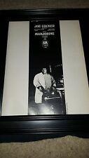 Joe Cocker Marjorine Rare Original Promo Poster Ad Framed!
