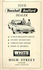 1968 White Of Ongar Garages Ltd Vauxhall Bedford Dealers Ad