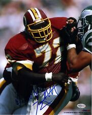 Dexter Manley Maroon Jersey Autographed 8x10 Washington Redskins