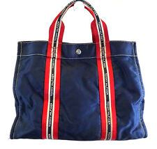Tommy Hilfiger Women's Handbag, Blue Satchel, Nylon Large Purse