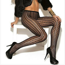Waist Slim Women Fishnet Net Pattern Jacquard Stockings Pantyhose Tights Pants