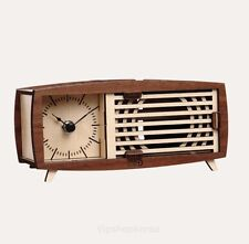 Wood Retro Radio Table Clock Assembly Kit Desk Bedside phone resonance speaker