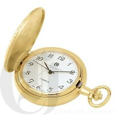 Charles-Hubert Gold-Plated Mechanical Pocket Watch - 3842