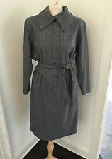 Vintage 70s Laura Biagiotti Pret-a-porter Made In Italy Gray Wool Dress Sz 4 6