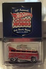 Hot Wheels 14th Nationals 2014 Convention VW Volkswagen T1 Drag Bus RR #'d/2400