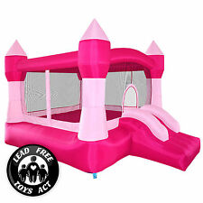 Pink Princess Bounce House Girls Jumper Castle Bouncer Inflatable with Blow