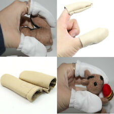 5 Pairs Leather Safety Finger Guard Protection Protector Gloves Needle Felting
