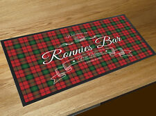 Personalised with your name Welcome Scottish Tartan bar runner Pubs & Bars