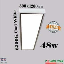New Surface Mount Led Ceiling 48W Commercial Industrial White 300 x 1200 Light