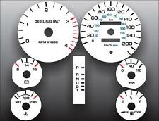 1994-1997 Dodge Ram 200 METRIC KPH KMH Dash Instrument Cluster White Face Gauges