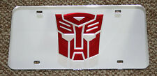 AUTOBOT Transformers Acrylic Mirror License Plate Tag