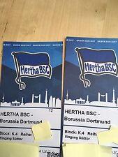 Hertha BSC - Borussia Dortmund Gäste 2 Tickets