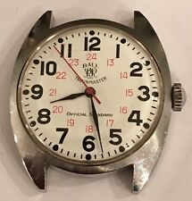 Vintage Ball Trainmaster 25 Jewel Automatic Railroad Watch Stainless Steel