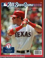 2009 MLB ALL STAR GAME PROGRAM FEATURING JOSH HAMILTON TEXAS RANGERS LIMITED
