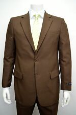 Men's Classic Fit Brown Dress Suit Size 52R NEW Suit