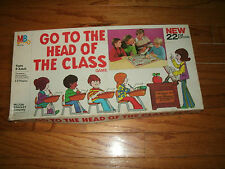"""Milton Bradley """"Go To The Head of The Class"""" Game 1978 20th ED. Ages 8+ 2-8 Play"""