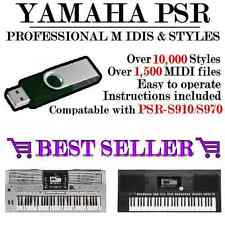 YAMAHA 10,000 STYLES USB FOR PSR-S910/S970