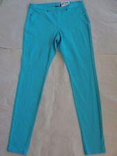 NWT $44 Hue Women The Original Denim Leggings Sz S Blue Curacao