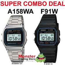 COMBO DEAL FREE POST FROM SYDNEY CASIO RETRO 1 x F91W PLUS 1 X A158WA