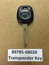 New OEM Rubber Toyota Transponder Chip Dot Key 4D 89785-08020 USA SELLER