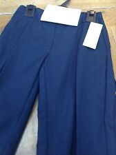 TWO PAIRS OF GIRLS NAVY MARKS AND SPENCER SCHOOL TROUSERS AGE 7-8 NEW WITH TA